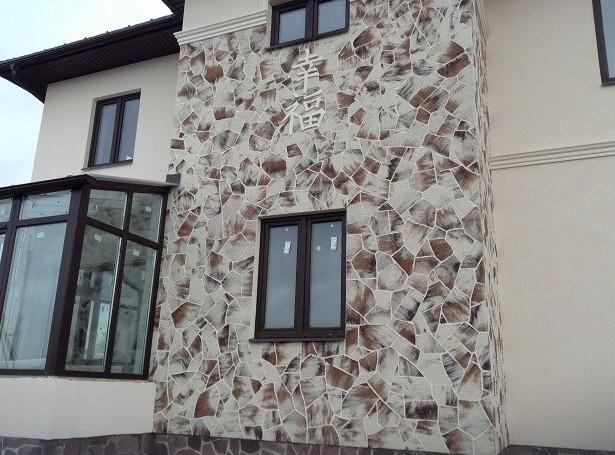 Гибкий камень в облицовке фасада